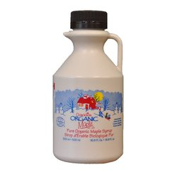 2 x Organic Canadian Amber Maple Syrup Jug 500ml