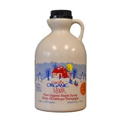Organic Canadian Amber Maple Syrup Jug 1 Litre