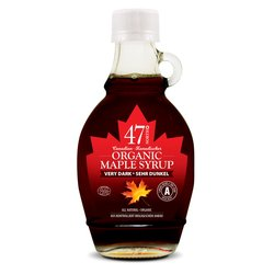 3 x Single Source Organic Canadian Very Dark Maple Syrup 250g
