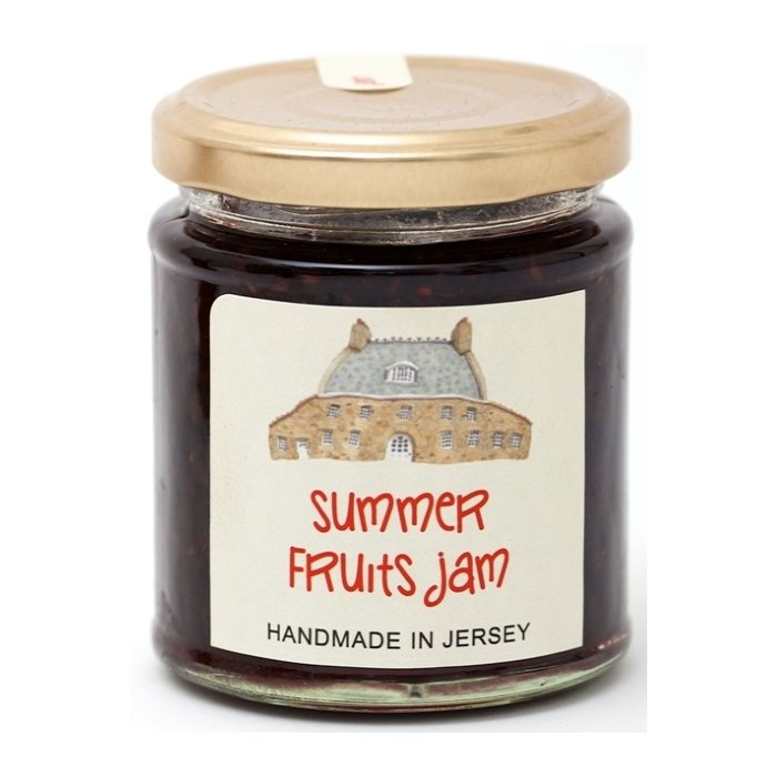 Strawberries, Blackcurrants & Raspberry Jam 227g