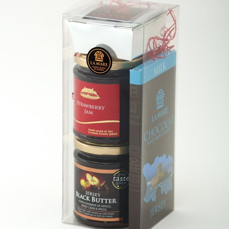 Jersey Black Butter, Strawberry Jam & Chocolate Gift Pack