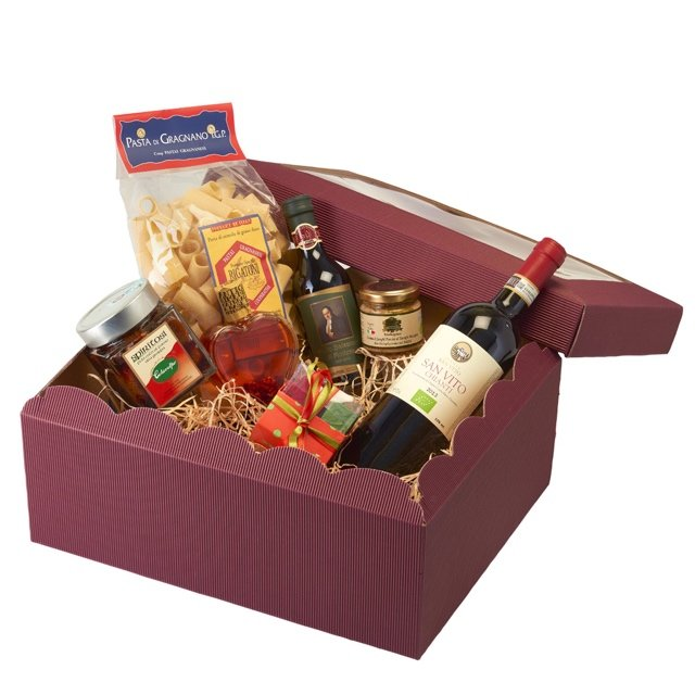 Italian Foodie Dad Gift Hamper Inc. Chianti Red Wine, Truffle Sauce, Pasta & Chocolates