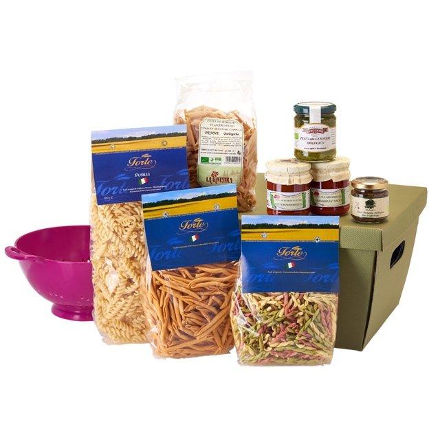 Italian 'Pasta Passion' Foodie Gift Hamper Box with 4 Sauces & 4 Pastas