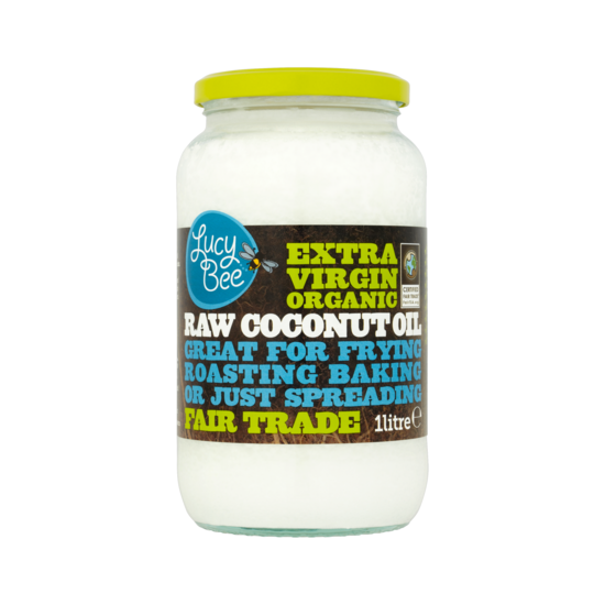 Lucy Bee Organic Raw Virgin Coconut Oil 1litre