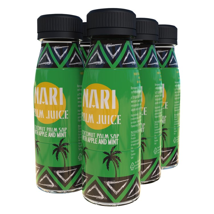 6 x Apple & Mint Nari Palm Juice (Coconut Sap Soft Drink) 330ml