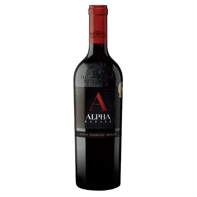 Syrah-Merlot-Xinomavro Alpha Estate Greek Red Wine 2013 14.5% Vol