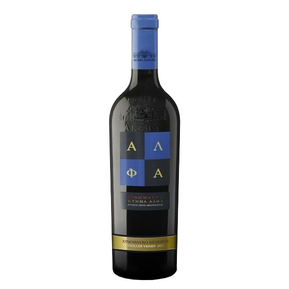 Xinomavro Reserve Vielles Vignes Alpha Estate Greek Red Wine 2012