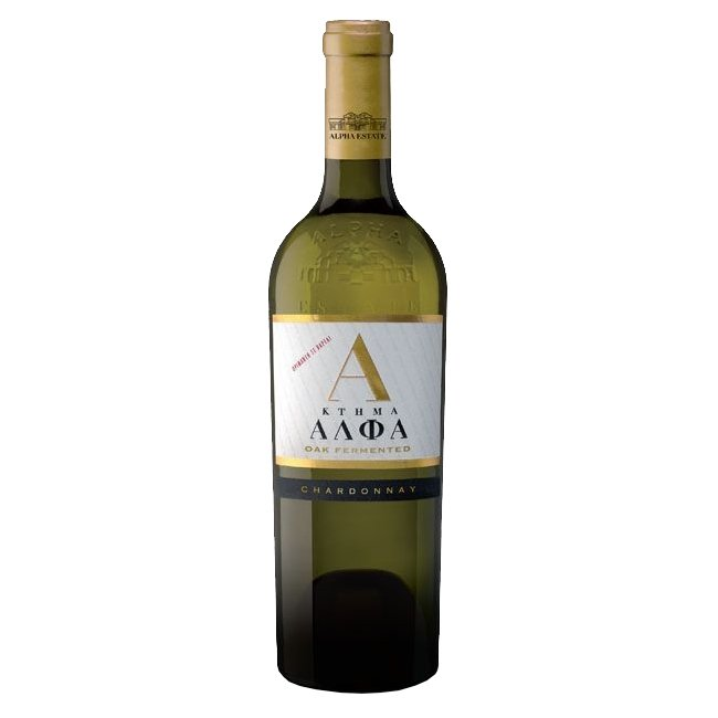 Chardonnay Oak Fermented Alpha Estate Greek White Wine, 2015