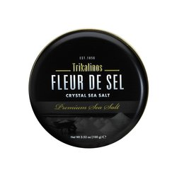 Fleur de Sel Crystal Sea Salt 100g By Trikalinos