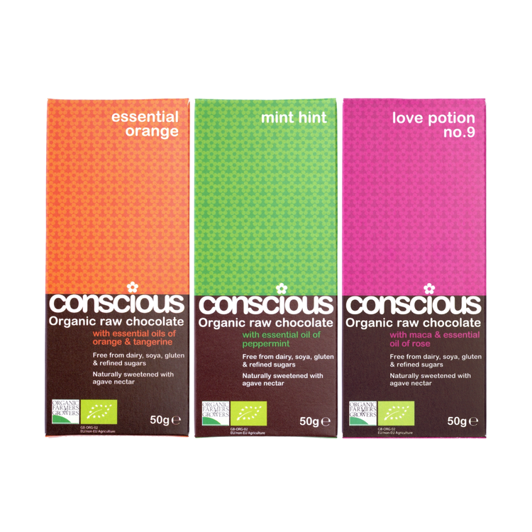 Essential Organic Chocolate Bar Set 3 x 50g