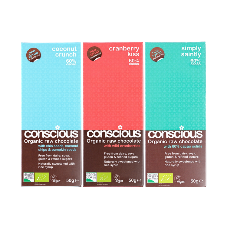 Exclusive Organic Chocolate Bar Trio 3 x 50g