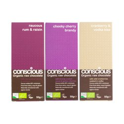 3 x Liqueur Chocolate Bar Trio 50g