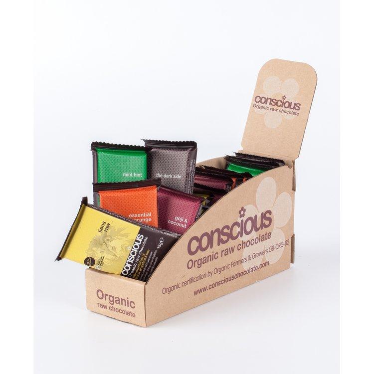 Mini Organic Chocolate Mixed Box 15 x 15g
