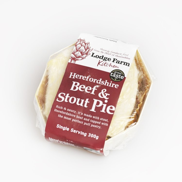 Herefordshire Beef & Stout Pie 300g
