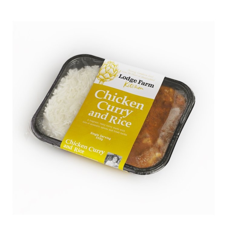 Free-Range Chicken Curry & Rice 550g