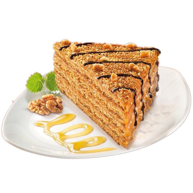 Marlenka honey cake slice