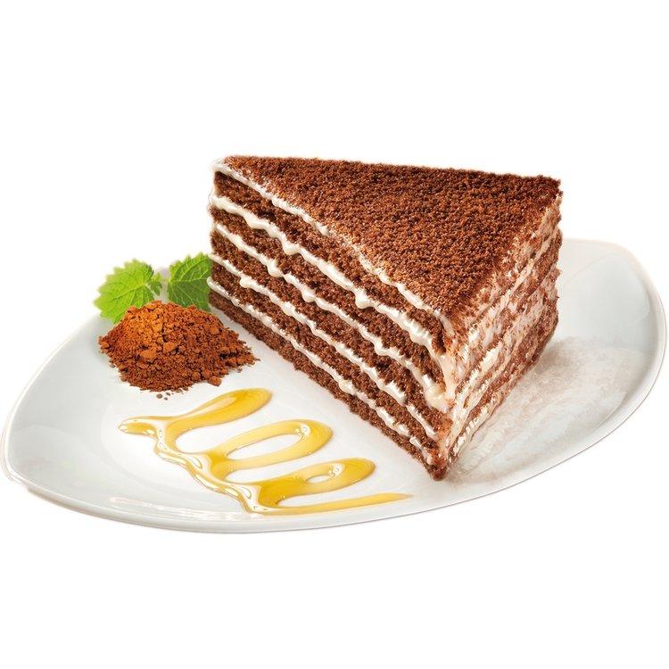 Marlenka cocoa cake slice