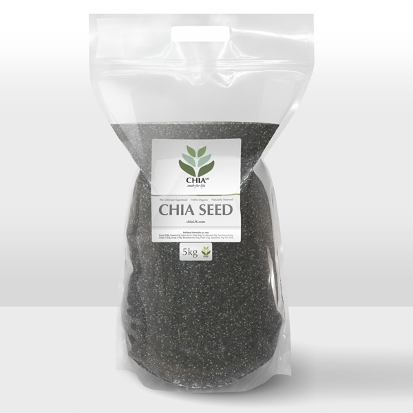 Gluten-Free Natural Chia Seeds 5kg