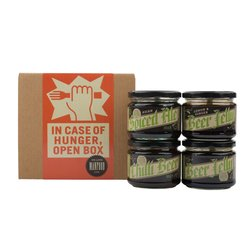 Savoury Jellies Foodie Gift Box (Spiced Ale, Chilli Beer, Lemon & Ginger, Beer) 4 x 300g