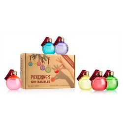 6 Pickering's Gin Christmas Baubles 30cl 42%