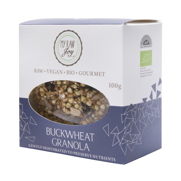 Organic Sprouted Buckwheat Granola Snacks with Dates & Raisins 100g (Vegan)