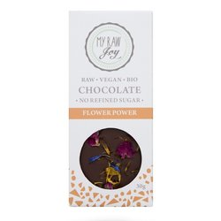 Organic 30g Raw Chocolate Bar with Edible Flowers (Vegan)