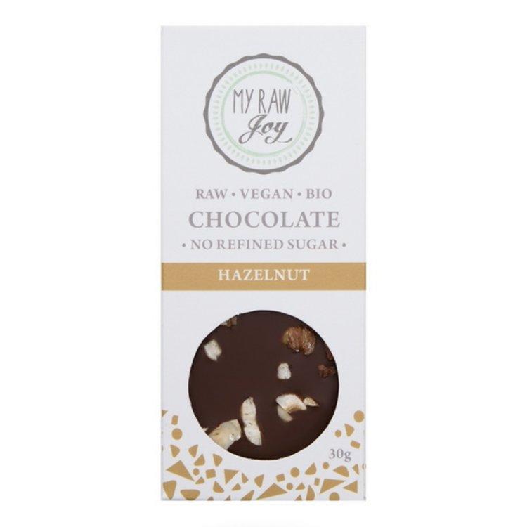 Organic 30g Raw Hazelnut Chocolate Bar (Vegan)