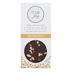 Organic 90g Raw Hazelnut Chocolate Bar (Vegan)