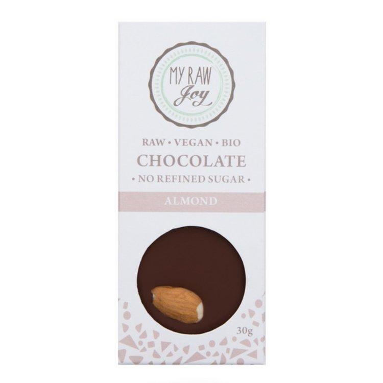 Organic 30g Raw Activated Almond 67% Chocolate Bar (Vegan)