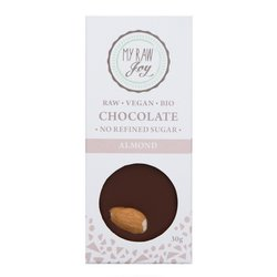 Organic 30g Raw Activated Almond 67% Chocolate Bar (Vegan)