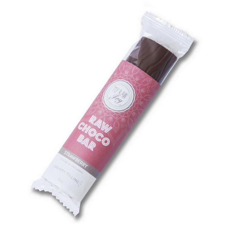 Organic Strawberry Filled Raw Chocolate Bar 30g (Vegan)