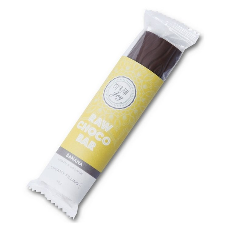 Organic Banana Filled Raw Chocolate Bar 30g (Vegan)
