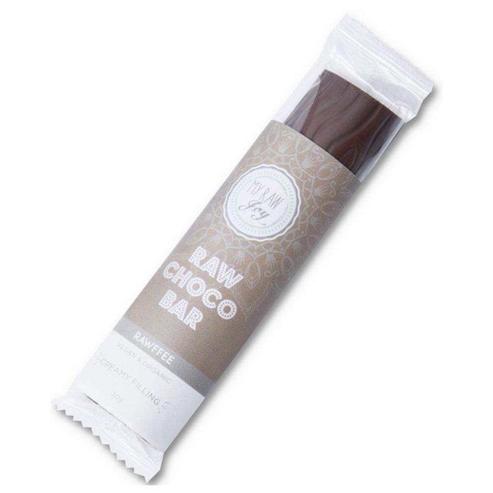 Organic Coffee Cacao Nib Guarana Filled Raw Chocolate Bar