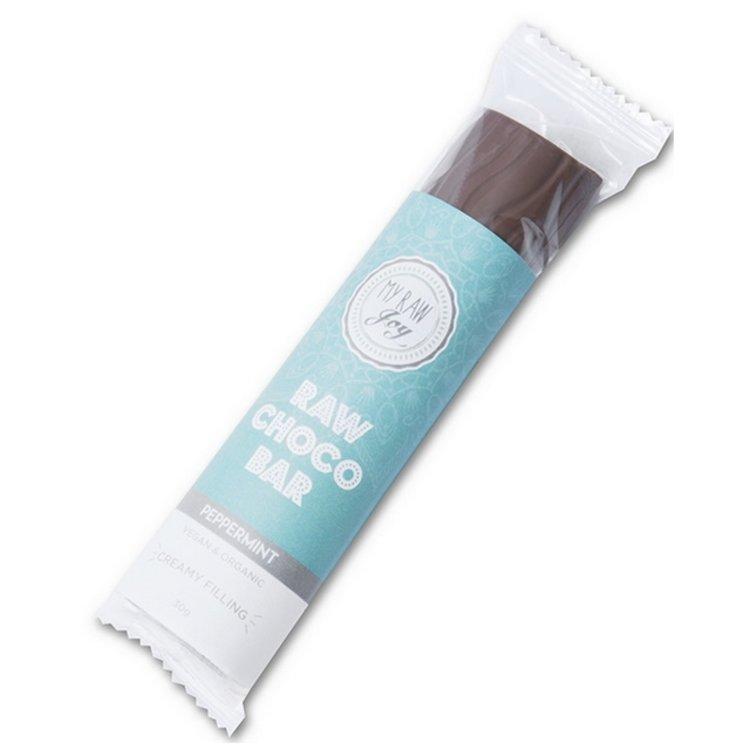 Organic Peppermint Filled Raw Chocolate Bar 30g (Vegan)