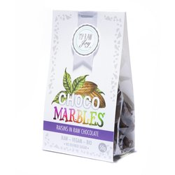 Organic Raw Chocolate Covered Raisins 'Marbles' 50g (Vegan)