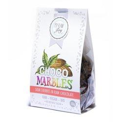 Organic Raw Chocolate Covered Sour Cherry 'Marbles' 50g (Vegan)