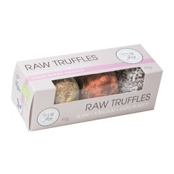 Organic Strawberry, Orange & Coconut Vegan Chocolate Truffles 45g