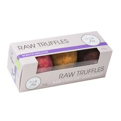 Organic Raspberry, Sea-Buckthorn & Cherry Morello Vegan White Chocolate Truffles 45g