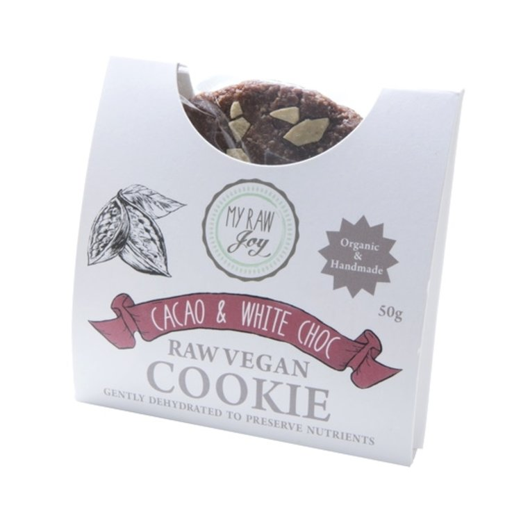 Organic Raw Cacao & White Chocolate Chip Cookie 50g