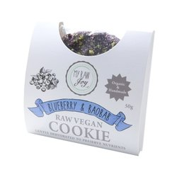Organic Raw Blueberry & Baobab Cookie 50g