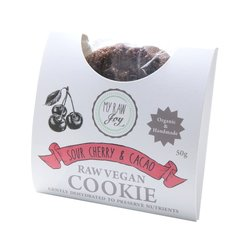 Organic Raw Sour Cherry & Cacao Cookie 50g