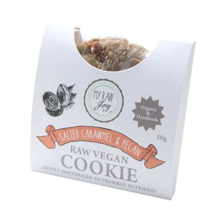 Organic Raw Salted Caramel & Pecan Nut Cookie 50g