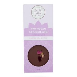 Organic 30g Raw Chocolate Bar with Raspberry & Edible Rose Petals (Vegan)