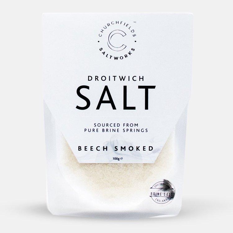 Beech Smoked Pure Brine Sea Salt 100g