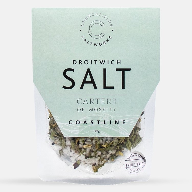 Coastline Natural Brine Sea Salt with Wild Fennel, Dulse Seaweed & Verbena 75g