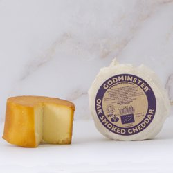 Triple Round Organic Cheddar Cheese Collection Gift Set Inc. Truffle, Vintage & Oak Smoked Cheddar