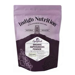 Organic 'Super Greens' Superfood Powder Blend Inc. Wheatgrass, Spirulina & Chlorella 500g (Vegan)