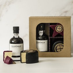 'After Dinner' Port, Black Truffle & Star Shaped Oak Smoked Cheddar Cheese Gift Box