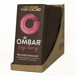Organic Goji Berry Raw Chocolate Bar 10 x 35g