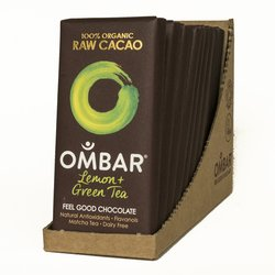 Organic Lemon & Green Tea Raw Chocolate Bar 10 x 35g